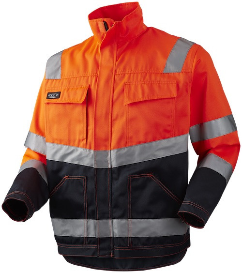 Arbejdsjakke, HI-VIS, kl. 2, 11105 - Orange/Marine