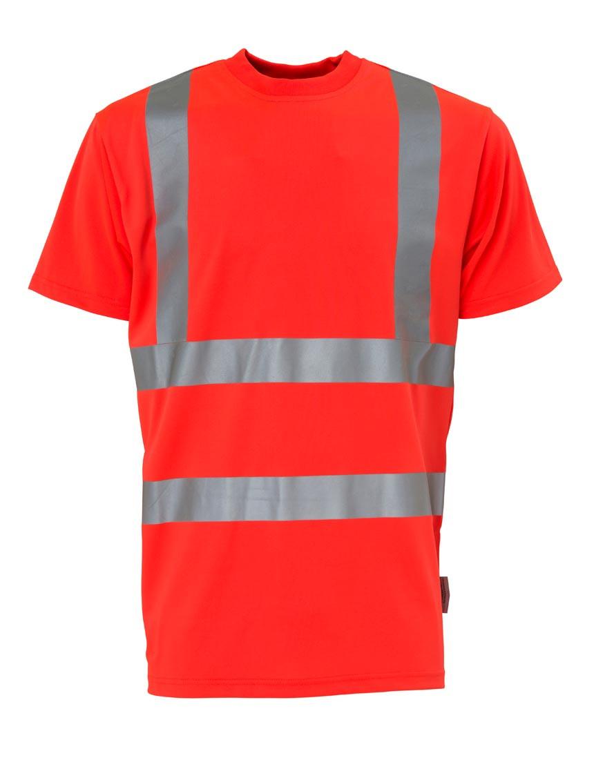 T-shirt, Hi-Vis, kl. 2, 11114 - Rød