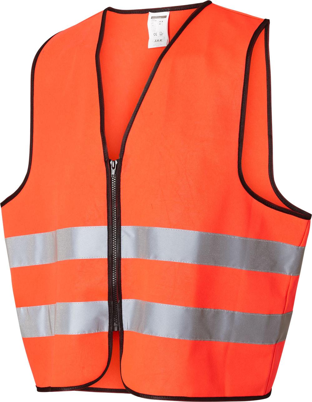Sikkerhedsvest, Hi-Vis, kl. 2, 11116 - Rød