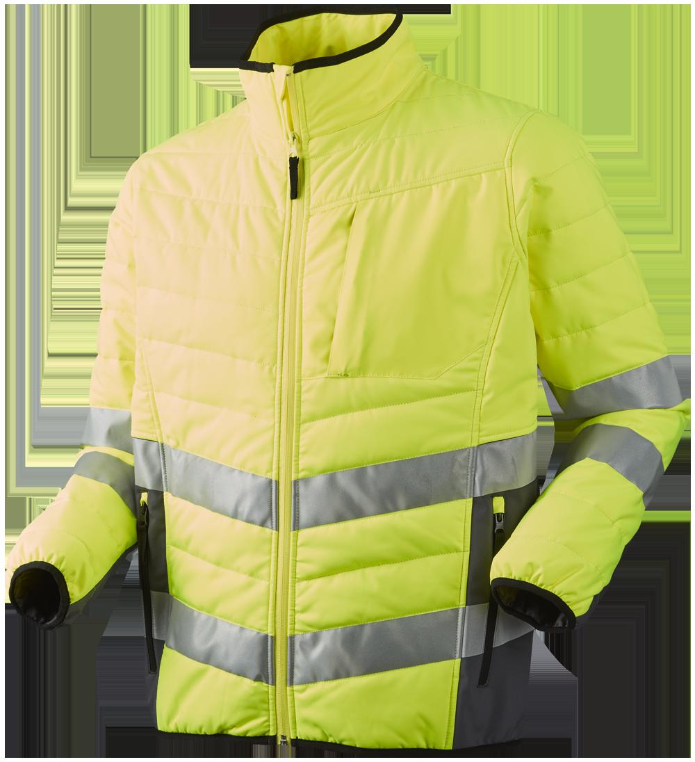 Quiltet jakke, Gul/Grå - 11142