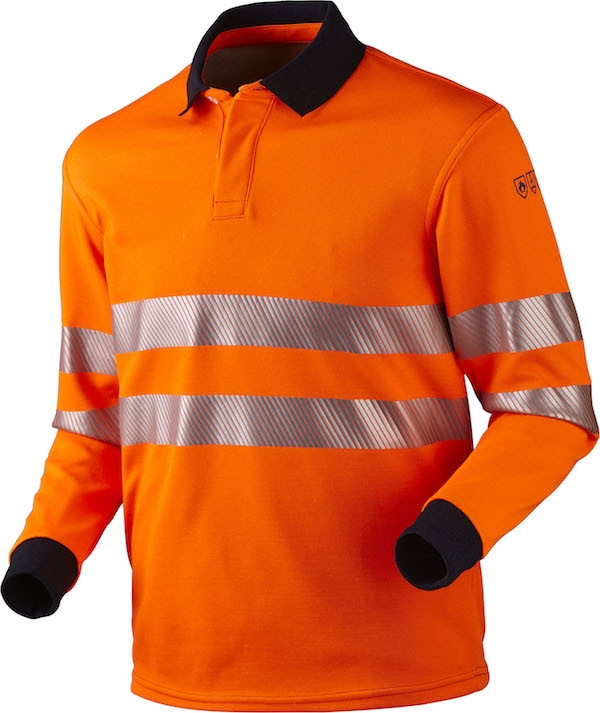 Poloshirt, Multinorm, Hi-Vis, Antistatisk & Antiflame, kl. 3, 12116 - Orange
