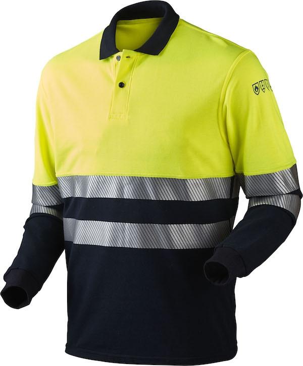 Poloshirt, MULTINORM, kl. 1, 13116 - Gul/Marine