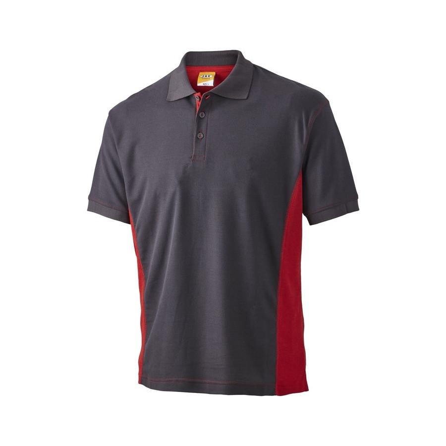 Poloshirt, 1625 - Grå/Rød