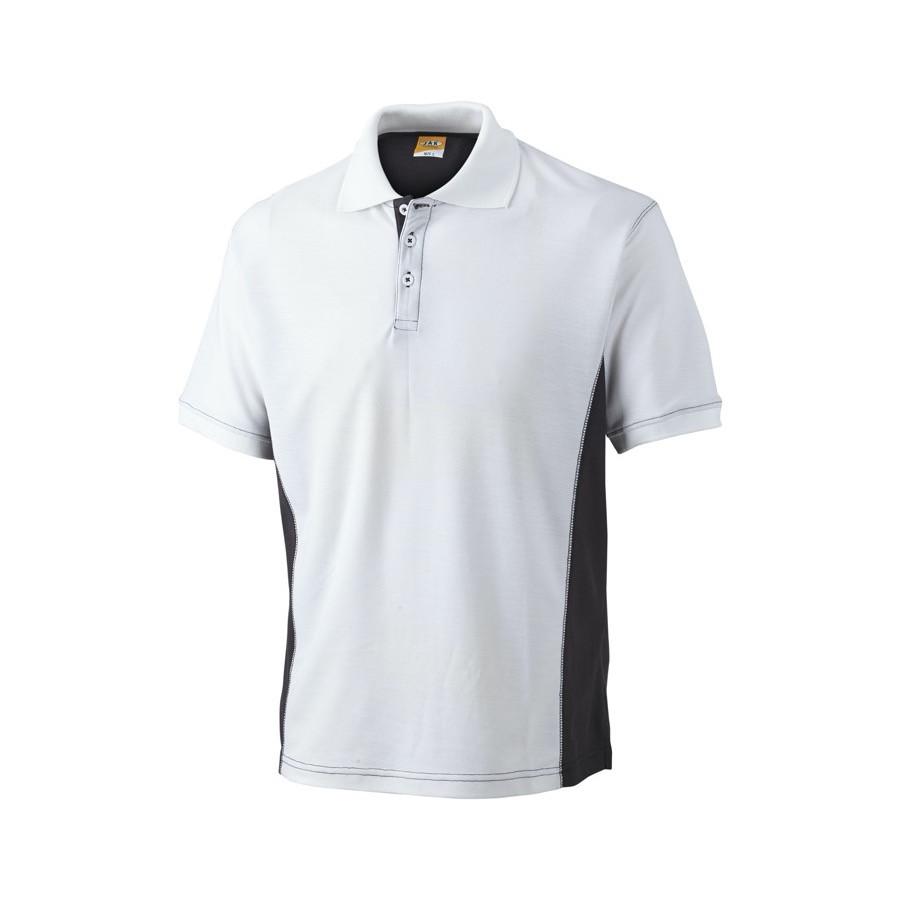 Poloshirt, 1625 - Hvid/Grå