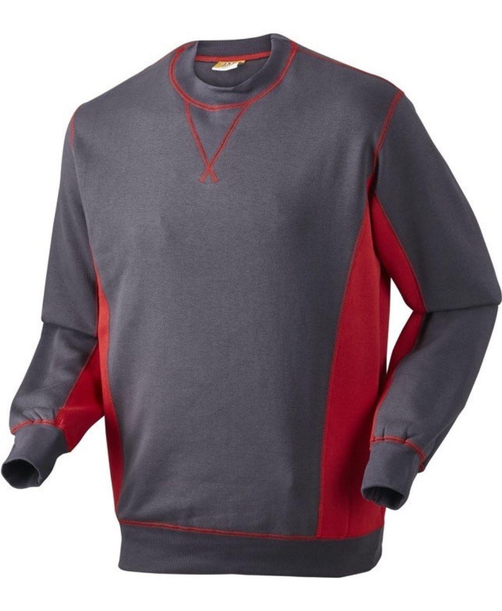 Sweatshirt, 1626 - Grå/Rød