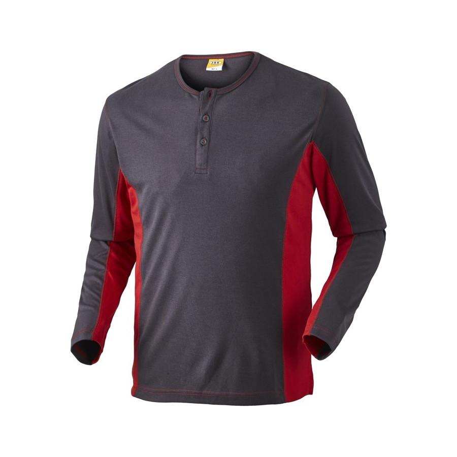 Grandad shirt, 1627 - Grå/Rød