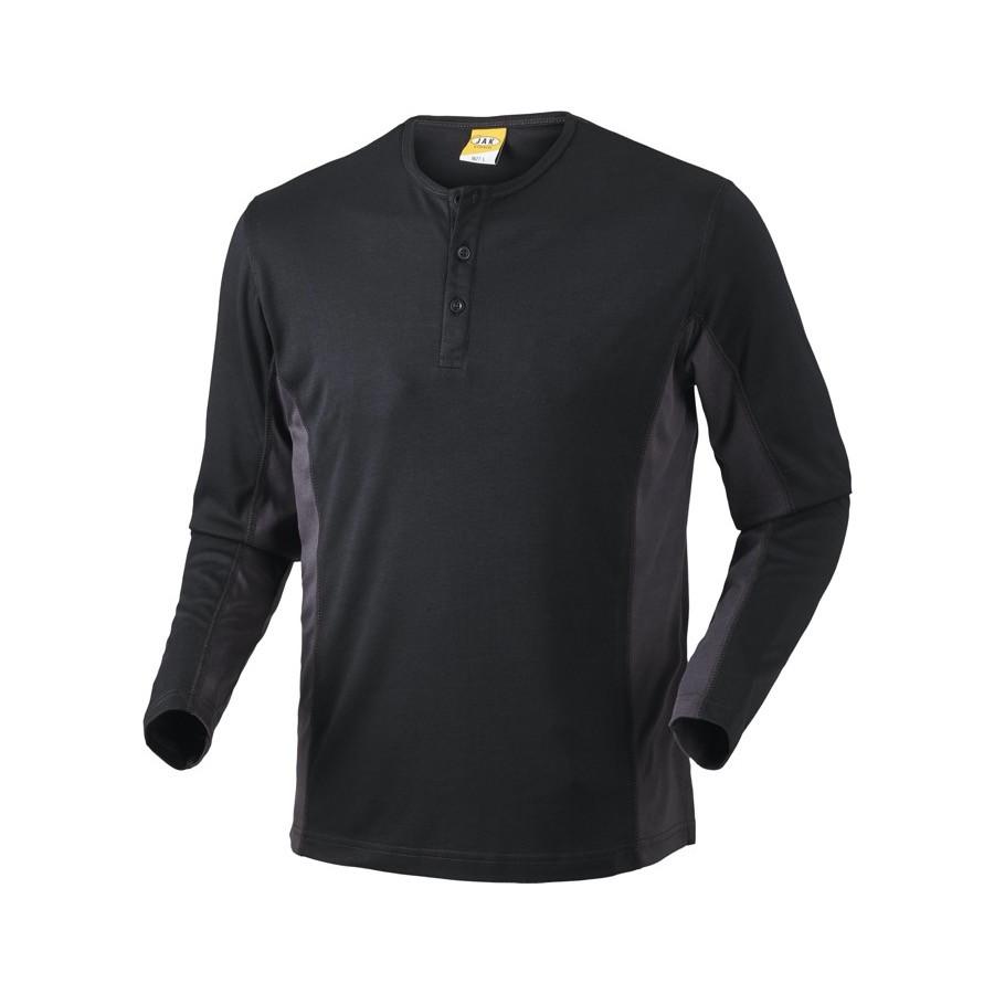 Grandad shirt, 1627 - Sort/Grå