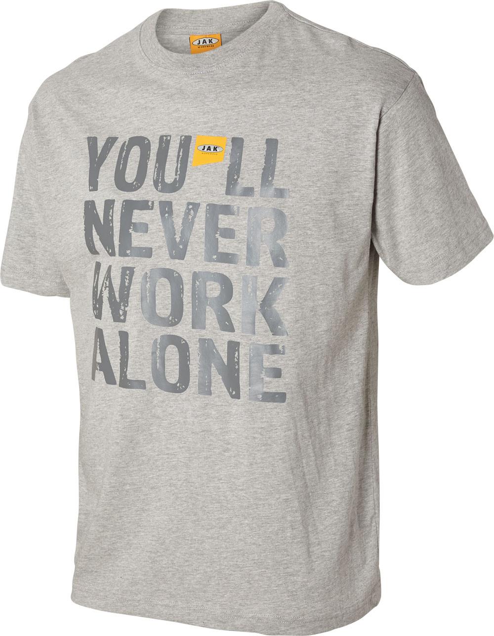 OUTLET - You'll never work alone, T-shirt, 8504 - Grå Melange
