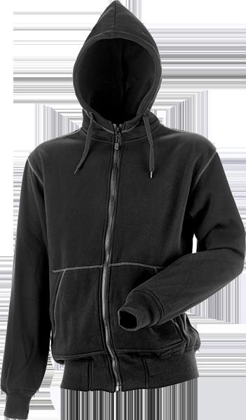 Hættesweatshirt, 8520 - Sort