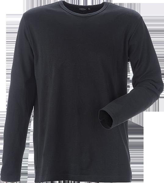 T-shirt, Langærmet, 8522 - Sort