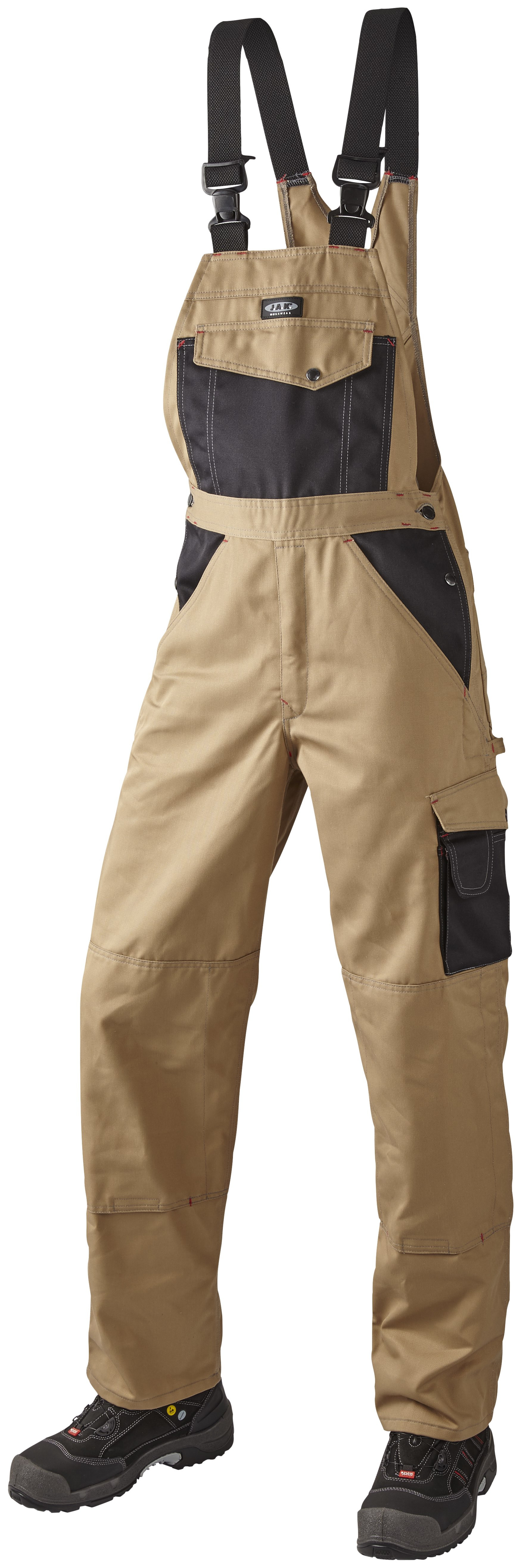 OUTLET - Arbejds Overall, 9207 - Khaki/Sort