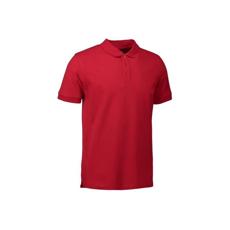 ID - Stretch poloshirt, 0525 - Rød