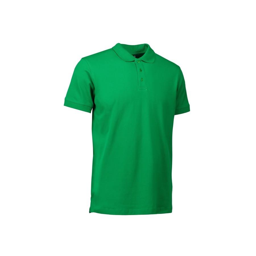 ID - Stretch poloshirt, 0525 - Grøn