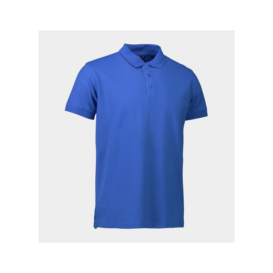 ID - Stretch poloshirt, 0525 - Azur