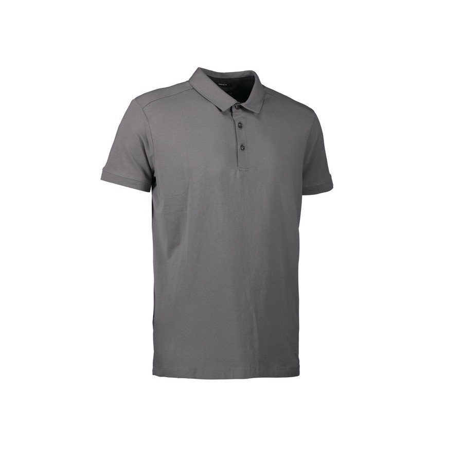 ID - Business herre polo | stretch, 0534 - Silver Grey