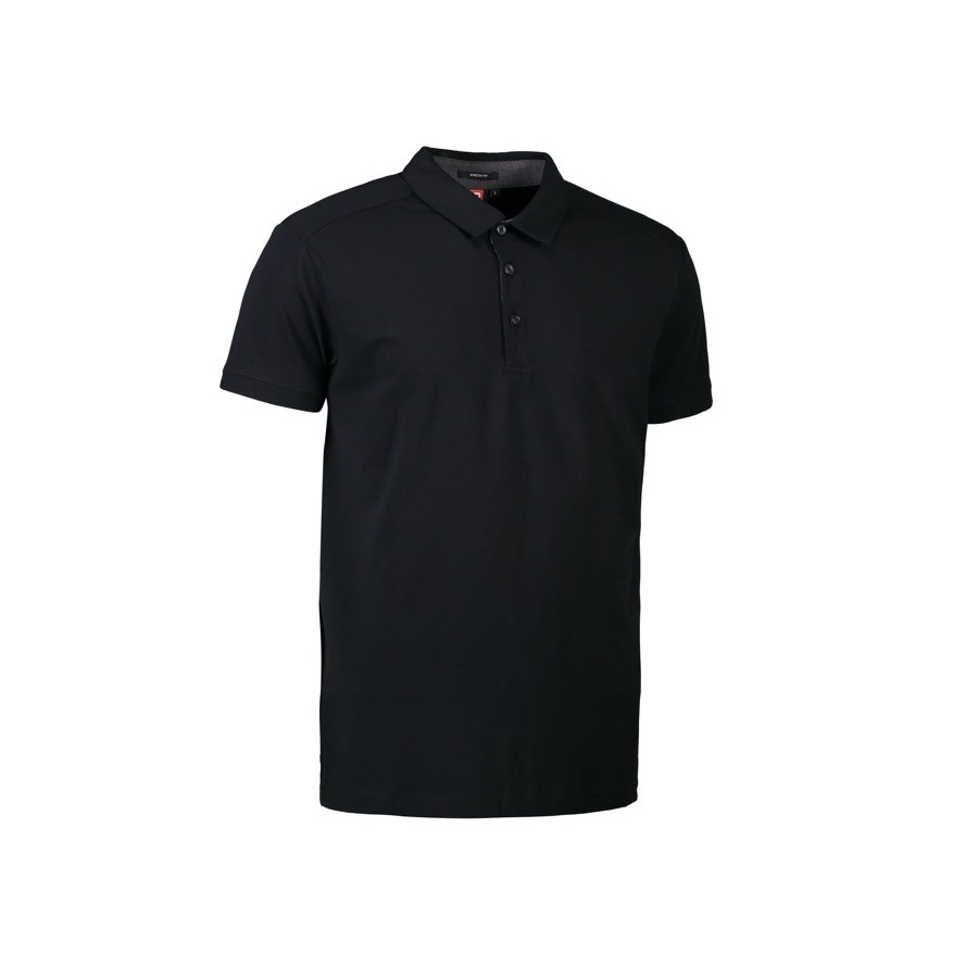 ID - Business herre polo | stretch, 0534 - Sort