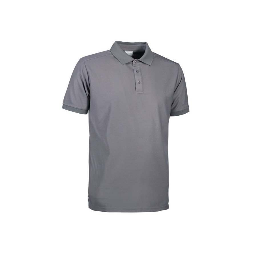 Geyser - Man functional polo shirt, G21006 - Silver grey