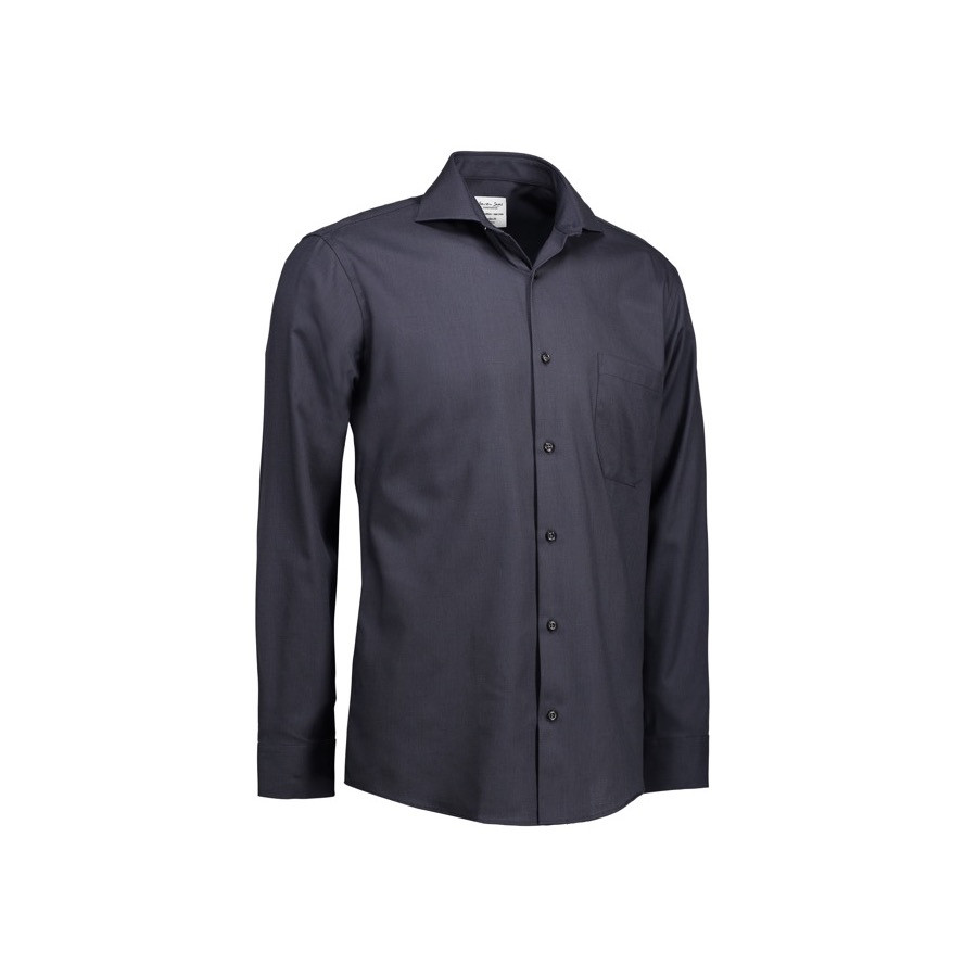 Seven Seas - Dobby | Royal Oxford | L/S Mod fit, SS310 - Koksgrå