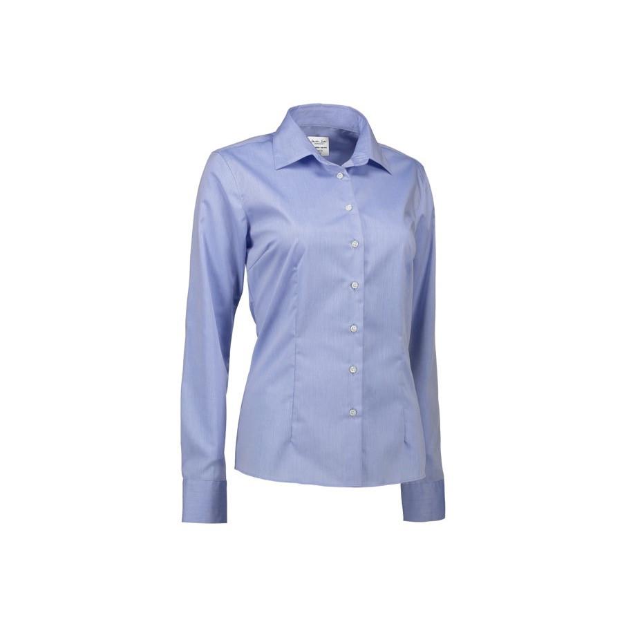Seven Seas - Fine Twill | Ladies, L/S, Modern fit, SS720 - Lys blå