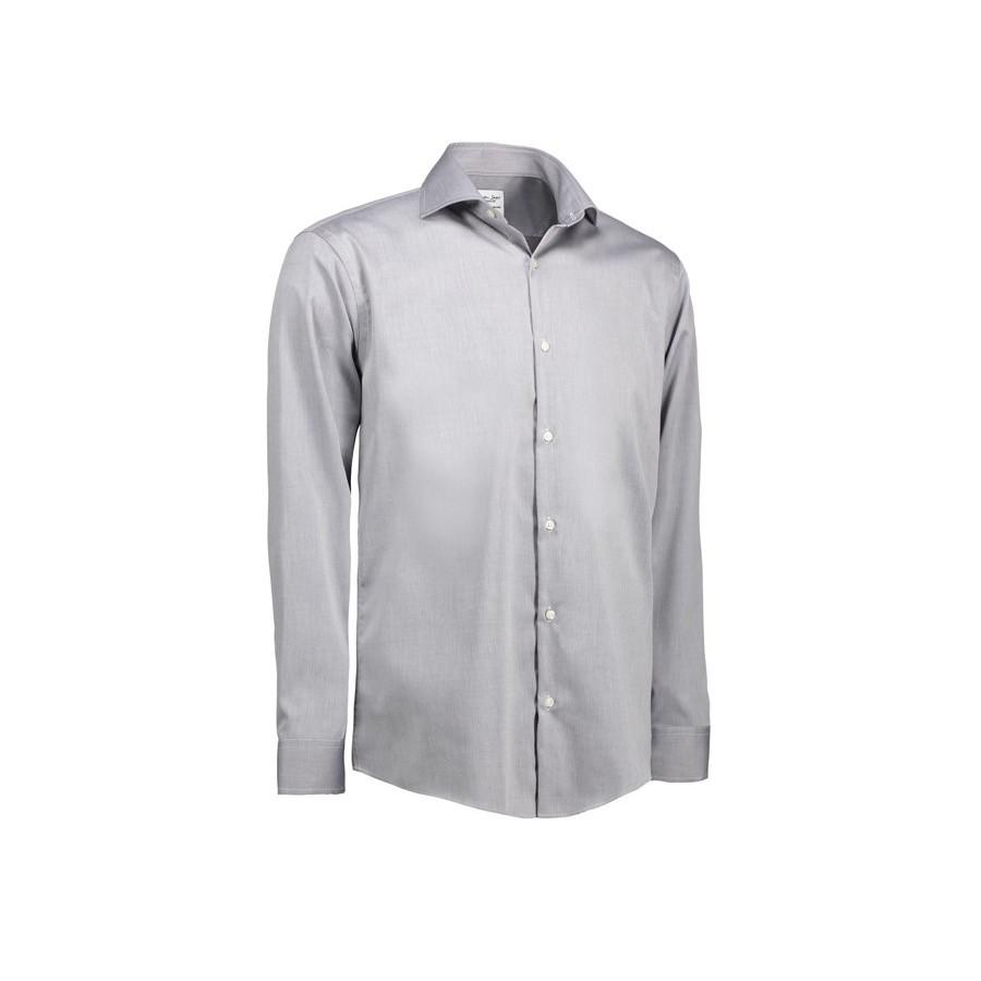 Seven Seas - Fine Twill L/S, Modern Fit. SS8 - Silver grey