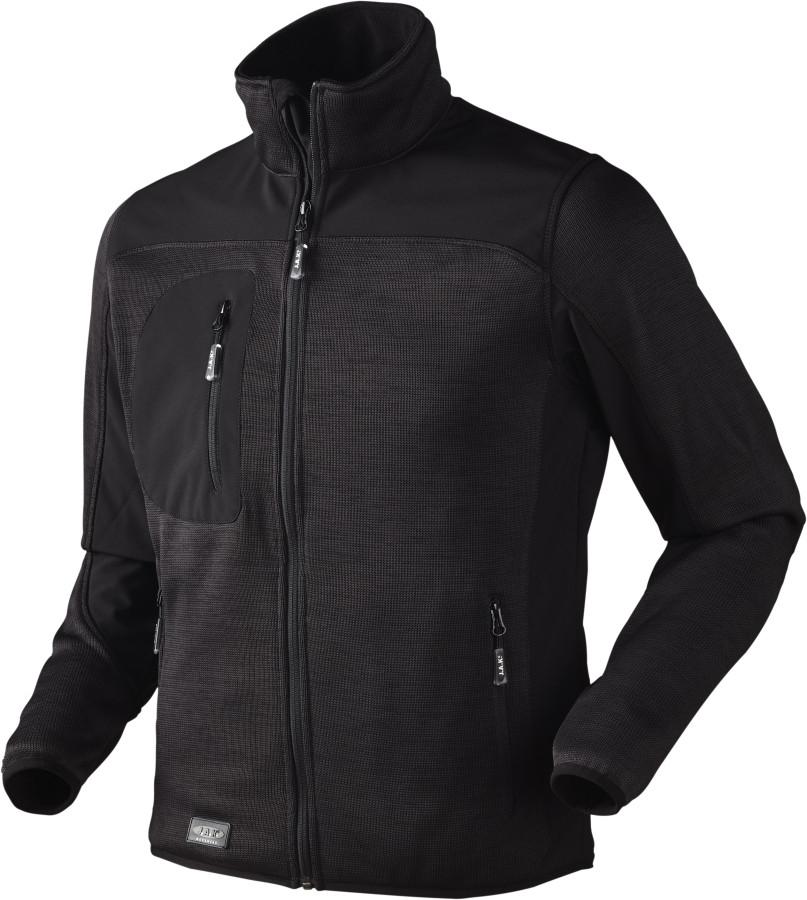 JAK - Strikfleece jakke, 6155 - Sort