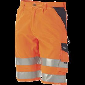 Arbejdsshorts EN ISO 20471 kl. 1, Orange/Marine - 11109-1