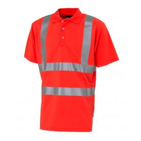 Poloshirt, Hi-Vis, kl. 2, 11113 - Rød