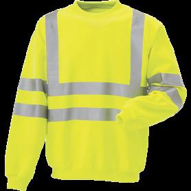 Sweatshirt, Hi-Vis, kl. 3, 11115 - Gul