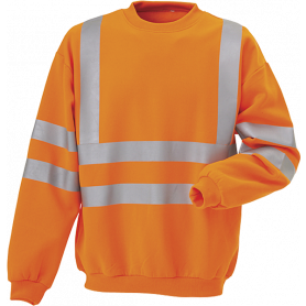 Sweatshirt, Hi-Vis, kl. 3, 11115 - Orange