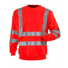 Sweatshirt EN20471 kl. 3, Rød - 11115