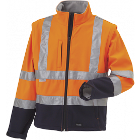 OUTLET - Softshell, Hi-Vis, kl. 3, 11141 - Orange/Marine