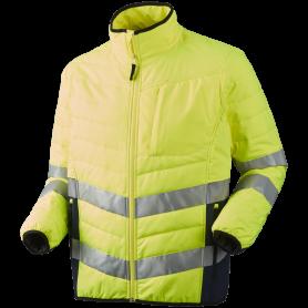 Quiltet jakke, HI-VIS, kl. 3, 11142 - Gul/Marine