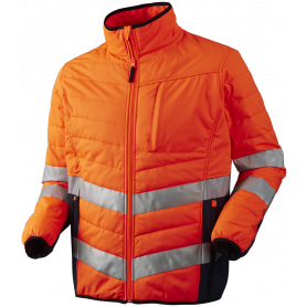 Quiltet jakke, Orange/Marine - 11142
