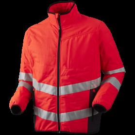 Quiltet jakke, Hi-Vis, Kl. 3, 11142 - Rød/Grå
