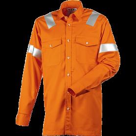 Arbejdsskjorte, ANTIFLAME/ANTISTATISK, 12021 - Orange