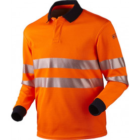 Poloshirt, Multinorm, Hi-Vis, Antistatisk & Antiflame, kl. 2, 12116 - Orange