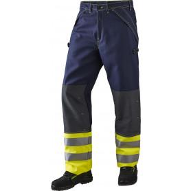 Bukser, Gul/marine, antistatisk og antiflame, multinorm, klasse 1 - 13101
