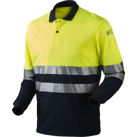 Poloshirt, multinorm, Gul/Marine - 13116