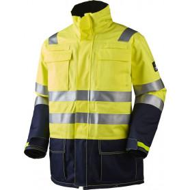 Parka jakke, Gul/marine, antistatisk og antiflame, multinorm - 13134