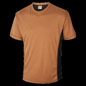 T-shirt, 1624 - Camel/Sort