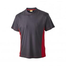 T-shirt, 1624 - Grå/Rød