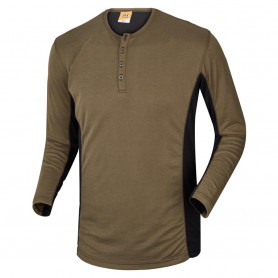 Grandad shirt, 1627 - Army/Sort