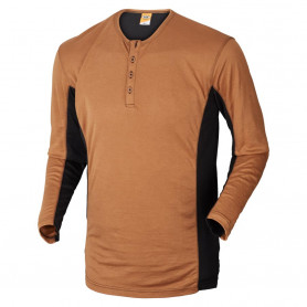 Grandad shirt, 1627 - Camel/Sort