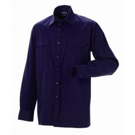 Arbejdsskjorte, Bomuld, 5121 - Marine
