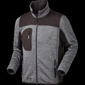 Strikfleece jakke, 6155 - Koks Melange
