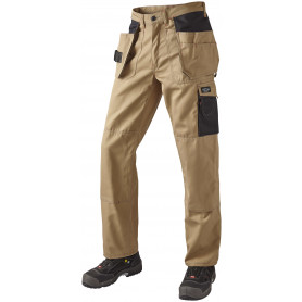 OUTLET - Arbejdsbukser, SUPER COLOUR, 9204 - Khaki/Sort