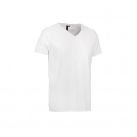 ID - CORE V-neck tee, 0542 - Hvid
