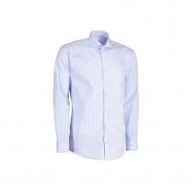 Seven Seas - Fine Twill | Kadet | L/S, Modern fit, S70 - Lys Blå