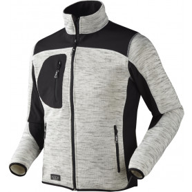 Strikfleece jakke, Grå melange - 6155