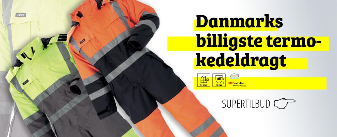 Danmarks billigste termokedeldragt